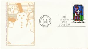 1973 Canada- FDC - Sc 628 - Christmas - Shepard and Star