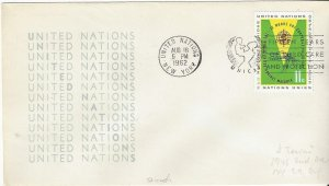 United Nations New York 103 Anti-Malaria 2nd Print on Cover