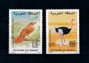 [102179] Morocco 1998 Birds vögel oiseaux nightingale ostrich  MNH