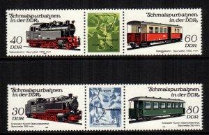 Germany DDR MNH 2405-6 Locomotives & Cars