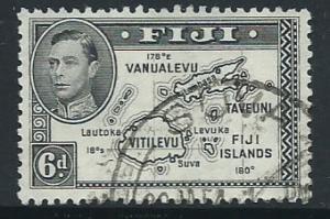 Fiji  GVI SG 261b  VFU perf 12