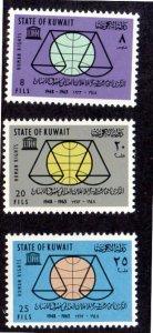 KUWAIT 222-224 MNH SCV $2.15 BIN $1.30 HUMAN RIGHTS
