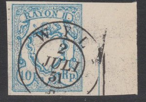 SWITZERLAND  An old forgery of a classic stamp - ...........................B194