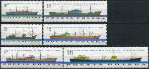 Poland 1961. Shipbuilding industry (MNH OG) Set of 6 stamps
