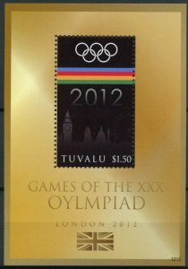 Tuvalu 2012 MNH Games XXX Olympiad 1v S/S London Olympics Logo Big Ben Stamps