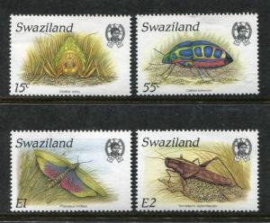 Swaziland 531-534, MNH, Insects Beetles 1988. x28252