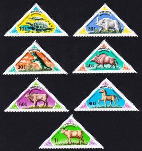 Mongolia Prehistoric Animals 7v issue 1977 SG#1046-1052 SC#954-960 MI#1065-1071