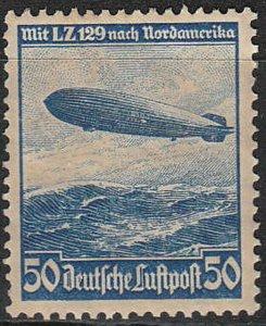 Stamp Germany Mi 606 Sc C57 1936 Reich Airship Airmail Hindenburg Zeppelin MH