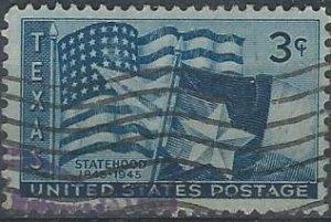 US 938 (used) 3¢ Texas statehood (1945)