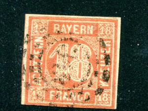Bavaria #14a Used F-VF