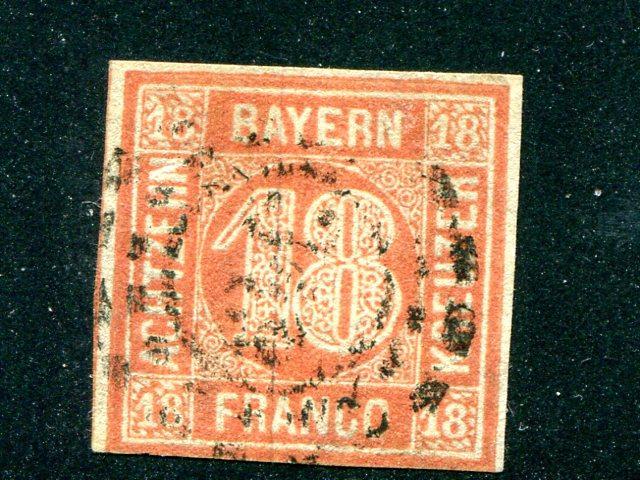 Bavaria #14a Used F-VF