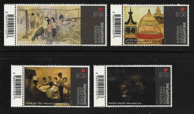 Singapore 2015 National Gallery Paintings MNH A193