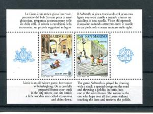 San Marino  1989 Europa mini sheet  Mint VF NH