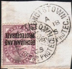 BECHUANALAND 1905 QV 1d on piece FRANCISTOWN cds...........................5164