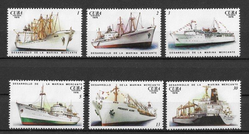 Cuba MNH 2162-7 Transport Ships 1976