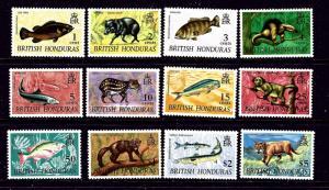 British Honduras 214-25 MNH 1968 Definitive Set