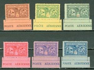 ALGER-TUNIS 1930 AIR VIGNETTES SANABRIA #SO1-O6 SET...MINT