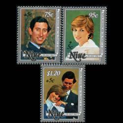 NIUE 1981 - Scott# B52-4 Royal Wedding Set of 3 NH