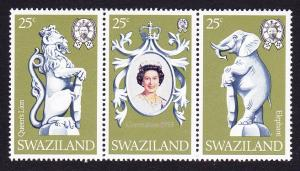 Swaziland Coronation 3v strip SG#293-295 SC#302-3020c