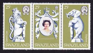 Swaziland Coronation 3v strip SG#293-295 SC#302-3020c
