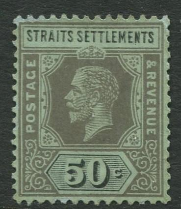 Straits Settlements - Scott 164a - KGV Definitive - 1919 - MNG - 50c Stamp