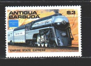 Antigua and Barbuda. 1986. 947 from the series. trains. MNH.