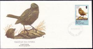 Tristan Da Cunha FDC SC# 457 Gough Bunting L364