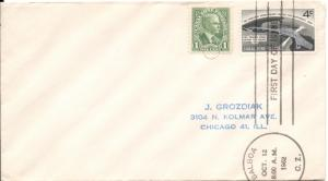 Canal Zone #157 - FDC with CZ#105