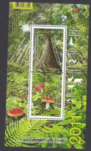 Canada #2461 MNH ss, International year of forests, issued 2011