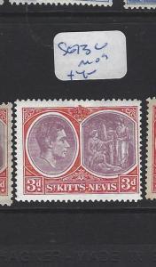 ST KITTS NEVIS  (PP2806B)  KGVI  3  D  SG 73C   MOG