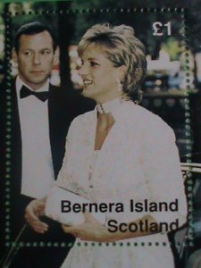 SCOTLAND STAMP- 1997-PRINCESS OF WALES- DIANA WITH BODY GUARD-MINT-NH S/S SHEET