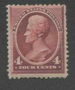 1888 US Stamp #215 4c Mint Hinged Ave Partial Original Gum Catalogue Value $180