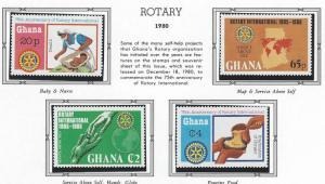 Ghana  mnh 741 - 744