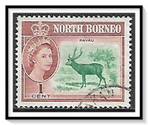 North Borneo #280 QE II & Sambar Used