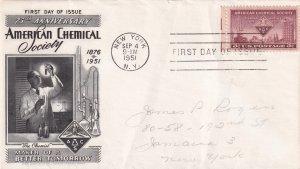 1951, 75th Anniv. American Chemical Society, Fleetwood, FDC (E12231)