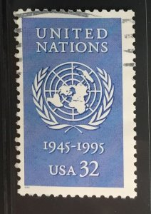 US #2974 Used F/VF - United Nations 32c