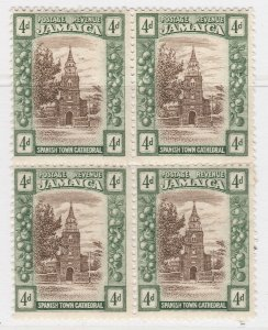 British Colony Jamaica 1921 4d Brown Wmk Mult Script CA MH* Stamp A22P19F8955