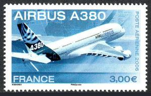 France C68, MNH. Airbus A380, 2006
