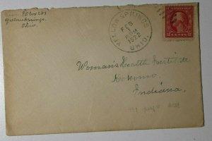 US Sc#499e Yellow Springs OH 1922 City Postmark Cancel