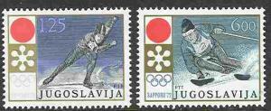 Yugoslavia # 1089-90 Olympics  (2) Mint NH