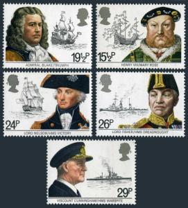 Great Britain 991-995,MNH.Michel 918-922. Royal Navy 1982.Navigators,ships.