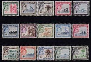 Gambia 1953 SC 153-167 LH Set