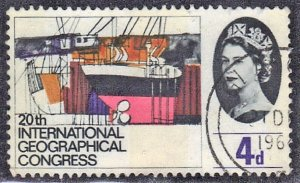 GREAT BRITAIN, UK SC #411 **USED** 4p 1964   SEE SCAN