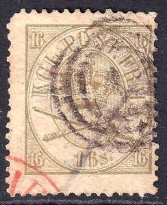DENMARK 15 BLACK AND RED CANCELS SCARCE $175 SCV