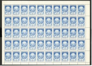 RUSSIA-MNH-SHEET OF 50 DEFINITIVE STAMPS-SHEET IN MIDLE FOLDED-1984.