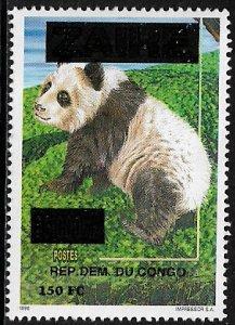 Zaire #1553 MNH Stamp - Panda Overprint