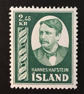 Iceland Sc. #285, mint hinged