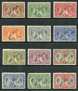 Cayman Is SG84/95s 1932 Centenary set of Perf AND H/S SPECIMEN (no gum)