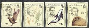 British Antarctic Territory Sc# 125-128 MNH 1985 Naturalists Flora & Fauna