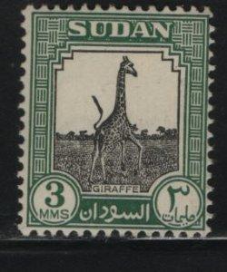 SUDAN, 100, HINGED, 1951, Giraffe